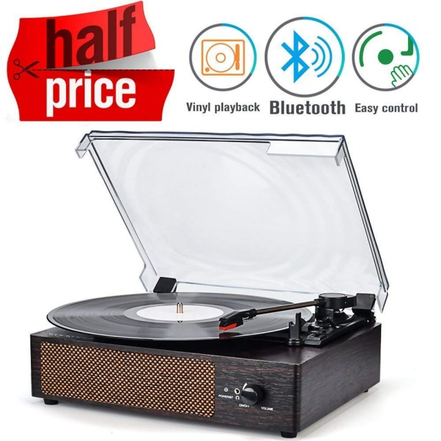 WOCKODER Record Player, Silver